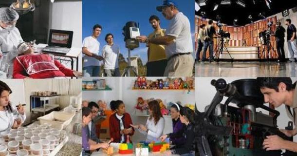 Mosaico de cursos da UNITAU - Fotos de Fernando Candelária - UNITAU