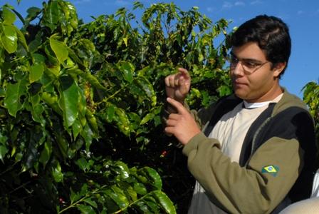 Produção de café na fazenda-piloto da UNITAU - crédito da foto - Denise Costa - UNITAU